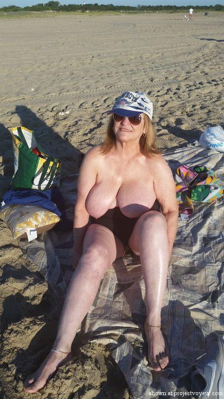 grandma at nude beach - image2