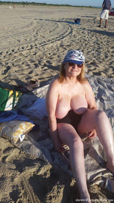 grandma at nude beach - image3