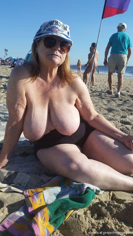 grandma at nude beach - image5