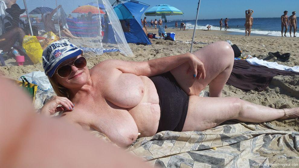 grandma at nude beach - image7