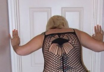 Mature Louise - Black Net - Black Dildo