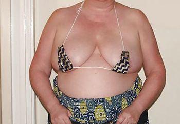 Wife micro bikini tits