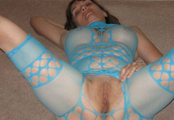 Sexy in Teal Fishnets