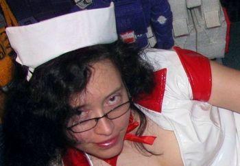 PVC Nurse Ready to Suck Your Cock!