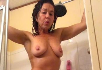 Shower time fun with Monica