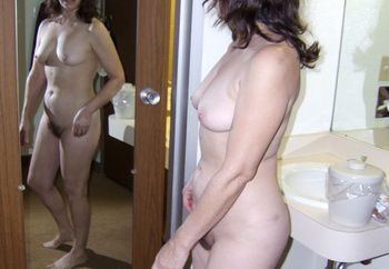 Mature wife hotel poses