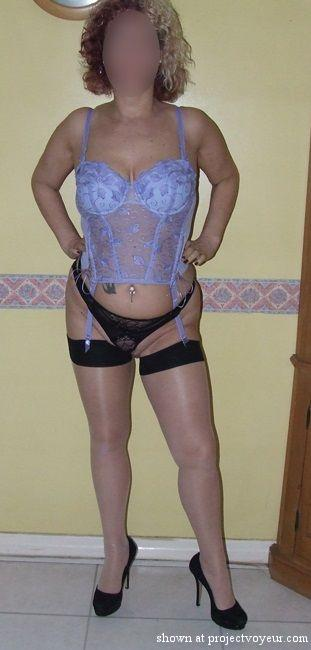 Mature Louise  - Blue Basque & Seams - image3
