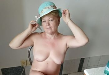 Me wife as a model with hats