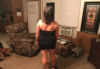 Wife's little black dress