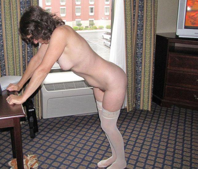 Mature Wife Hotel Posing