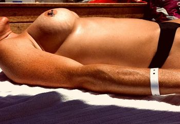 Topless tanning