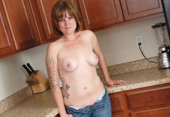 naked fun in the kitchen