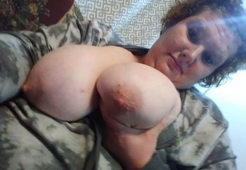 Big firm titts on shy wife