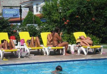 Sweden girls on pool PART 3