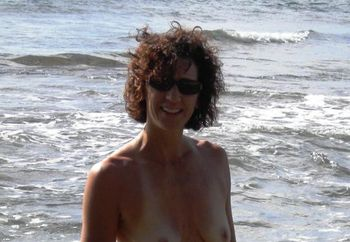 Cyndi at the Beach