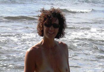Cyndi at the Beach