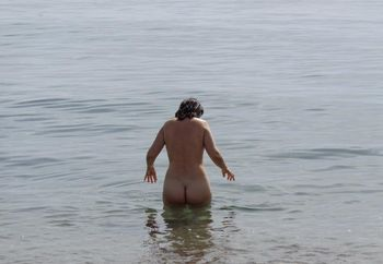 My wife salomé, nude at the beach