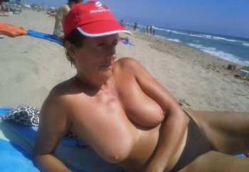 Wife in the beach