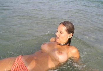 topless in the beach