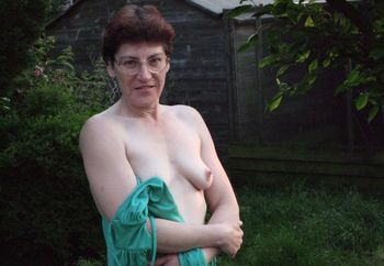 The mrs outside