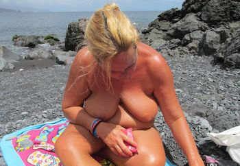 Coco naked at beach 2