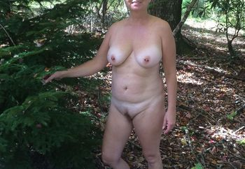 Outside in the woods