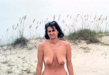 Slut Wife Naked on public beach