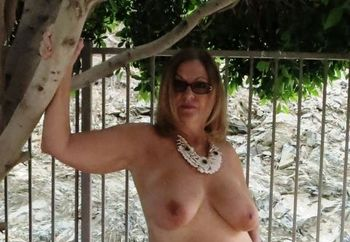 Naked in my backyard !