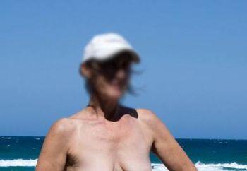 Aussie milf at the beach