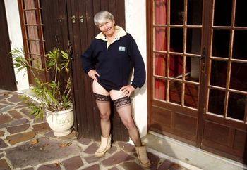 Granny in Nylons