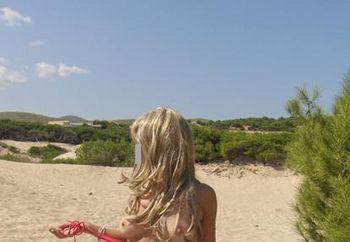 nude lady on beach