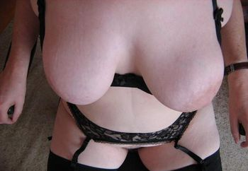 Black stockings and thigh lengh boots