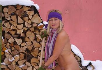 Nude in snow