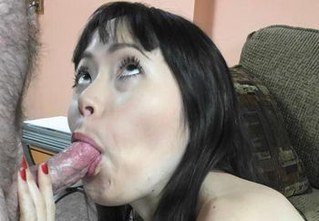 Asian wife Yuka is blowing a geek
