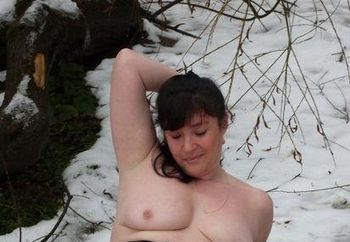 more of denise in the snow