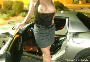 Sexy Jamie in her Corvette