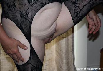 "Black lace lingerie, the ""end"" result!"