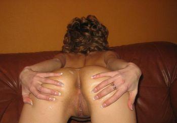 Cum all over my ass