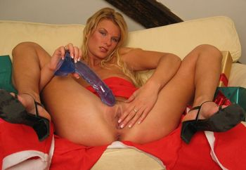 toy and shaved pussy