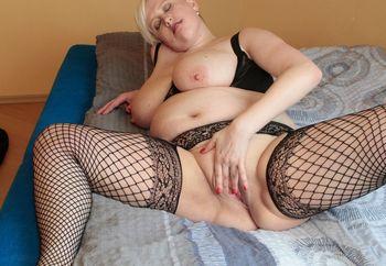 busty blonde