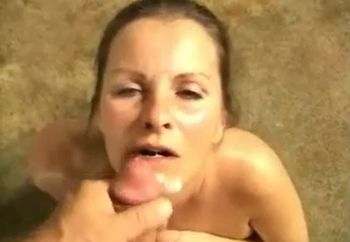 hot load on her face