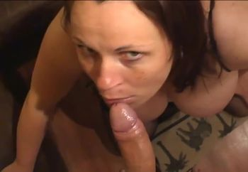 Big tit BJ and facial