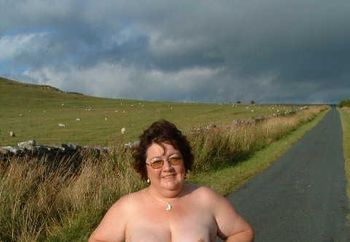 Maggie Topless In The Countryside