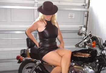My Hot  Wife On Bike