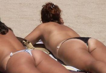 on the beach..
