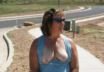 Karen On Her New Lot And In A Model Home