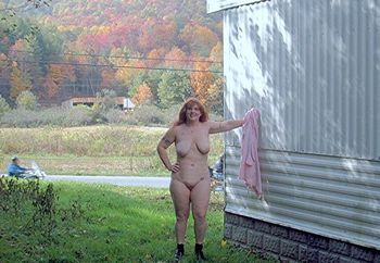 naked in the neighbor's yard
