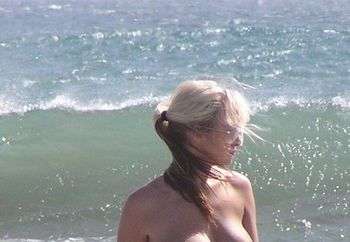 spanish beach boobs