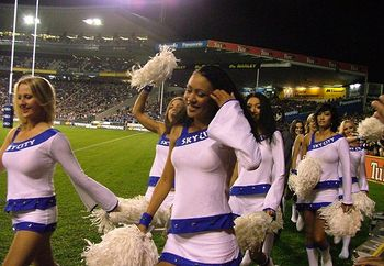 blues rugby super 12 cheerleaders