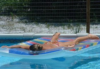 friend laying out